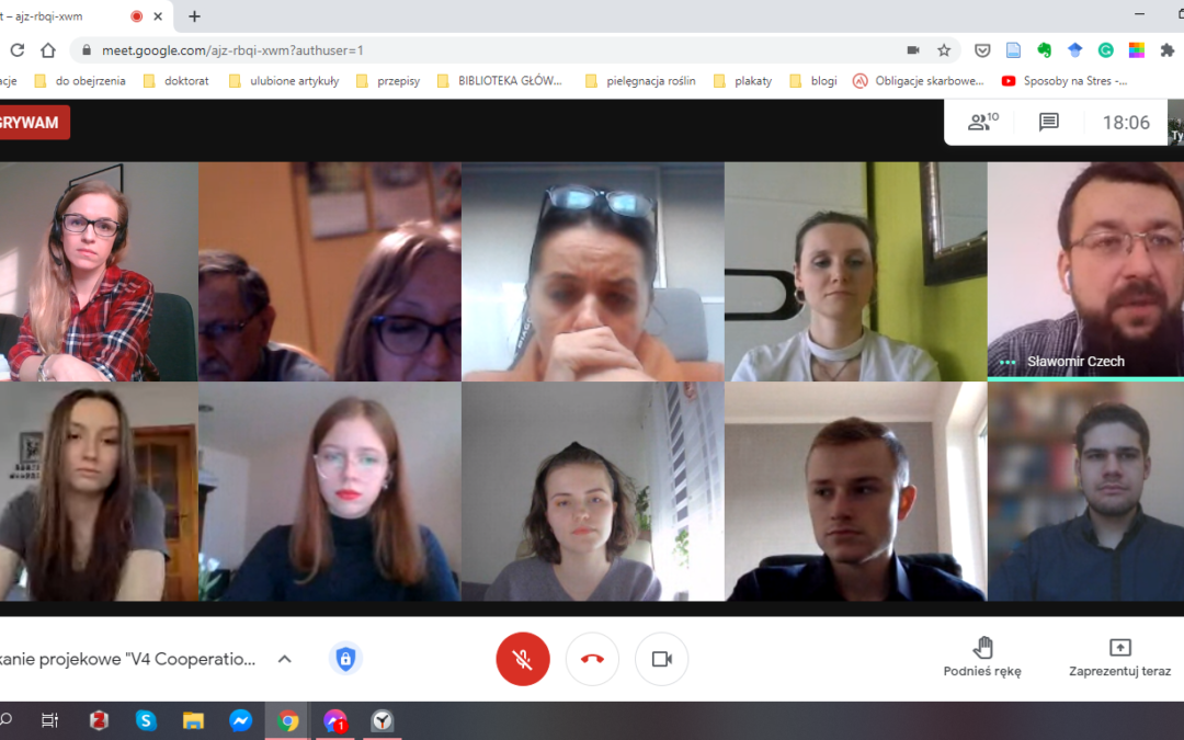 The first meeting of Polish team